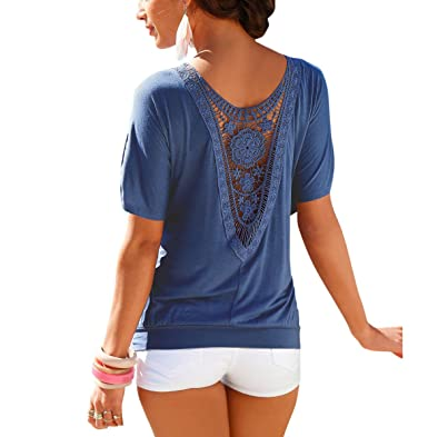 cheaper 3d0b7 b2532 Damen Sommer Tops T-Shirt Tunika Halbarm Oberteil Tops Bluse ...