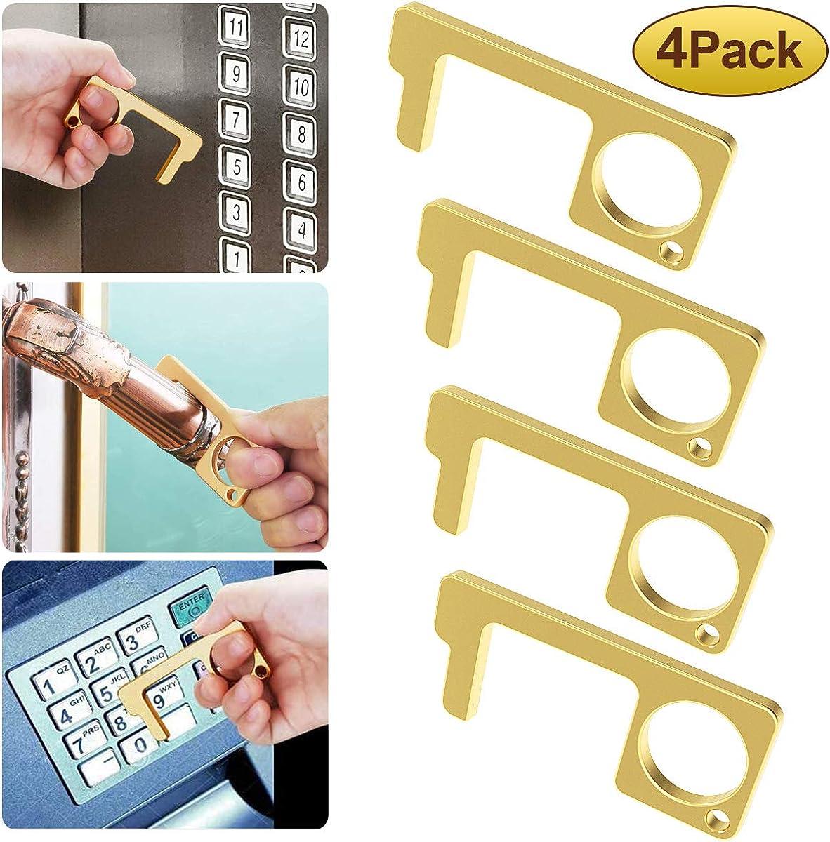 3 herramientas de abridor de puerta sin tocar con punta de goma y l/ápiz capacitivo para mantener las manos seguras y limpias reutilizables personalizable sin contacto