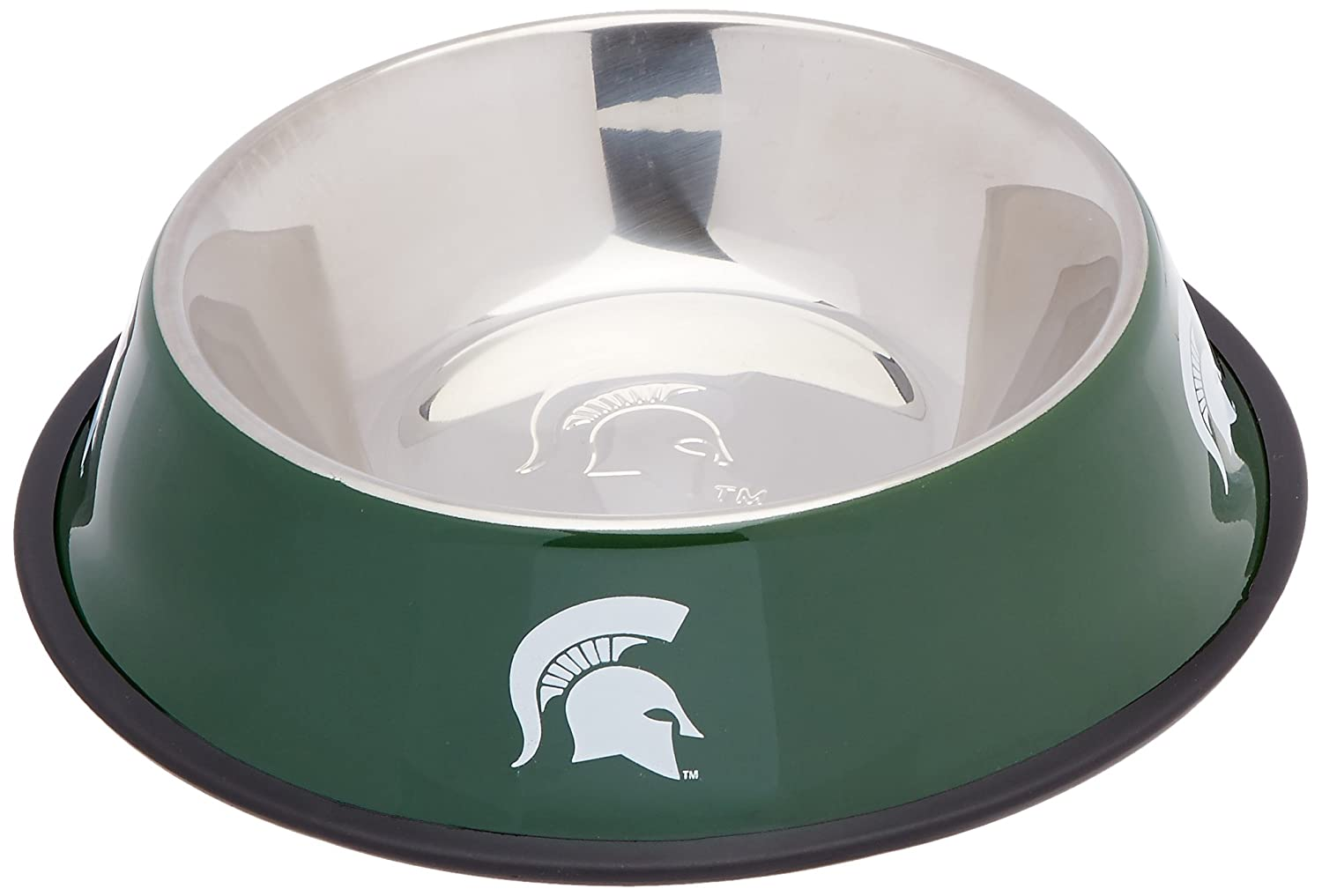 best Pet Goods NCAA Michigan State Spartans Stainless Steel Bowl