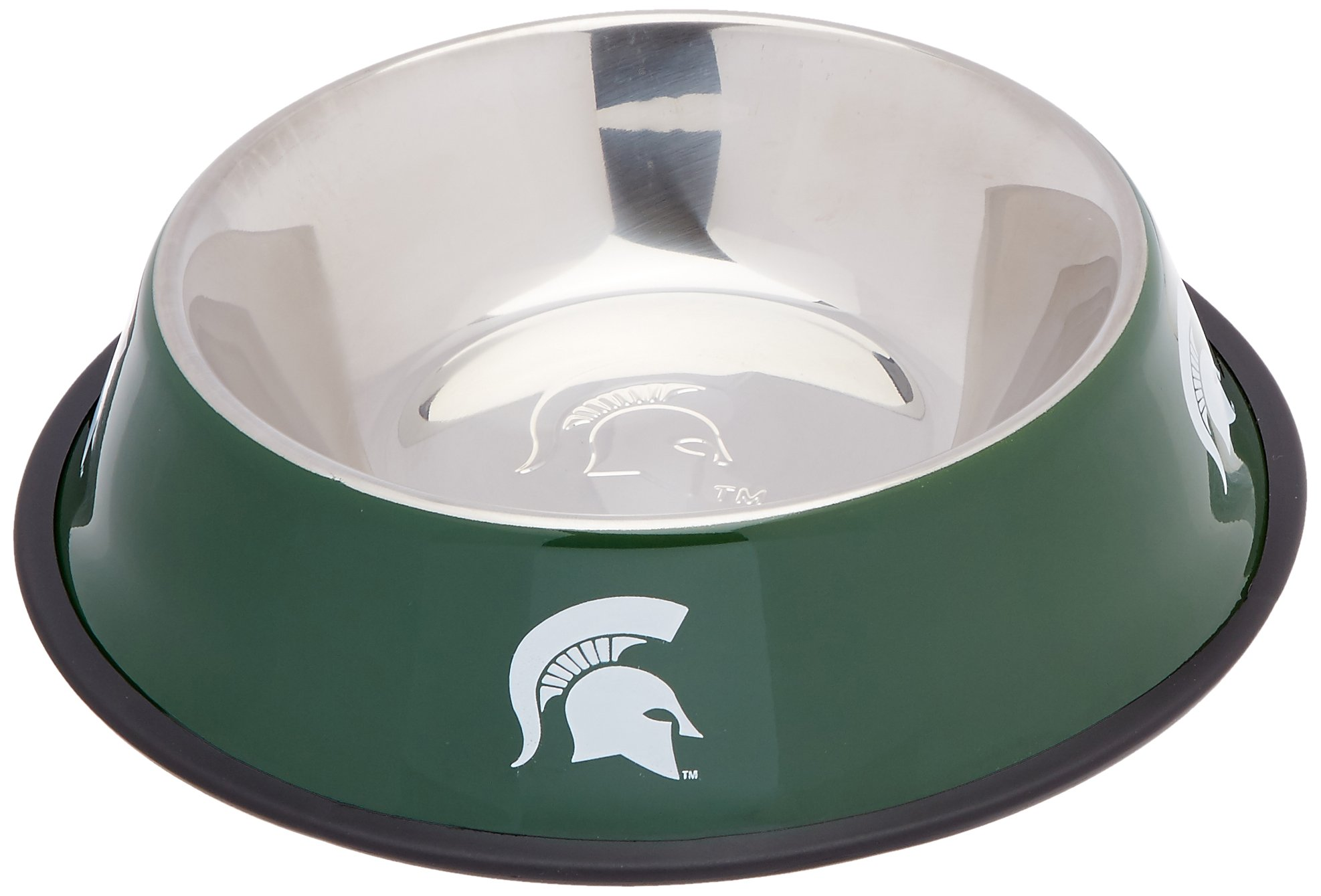Pet Goods NCAA Michigan State Spartans Stainless Steel Bowl by Pet Goods
