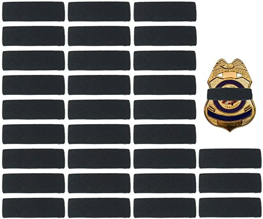 Wide Set Posts for wider police Mourning Badge Cover LEO and first responder badges