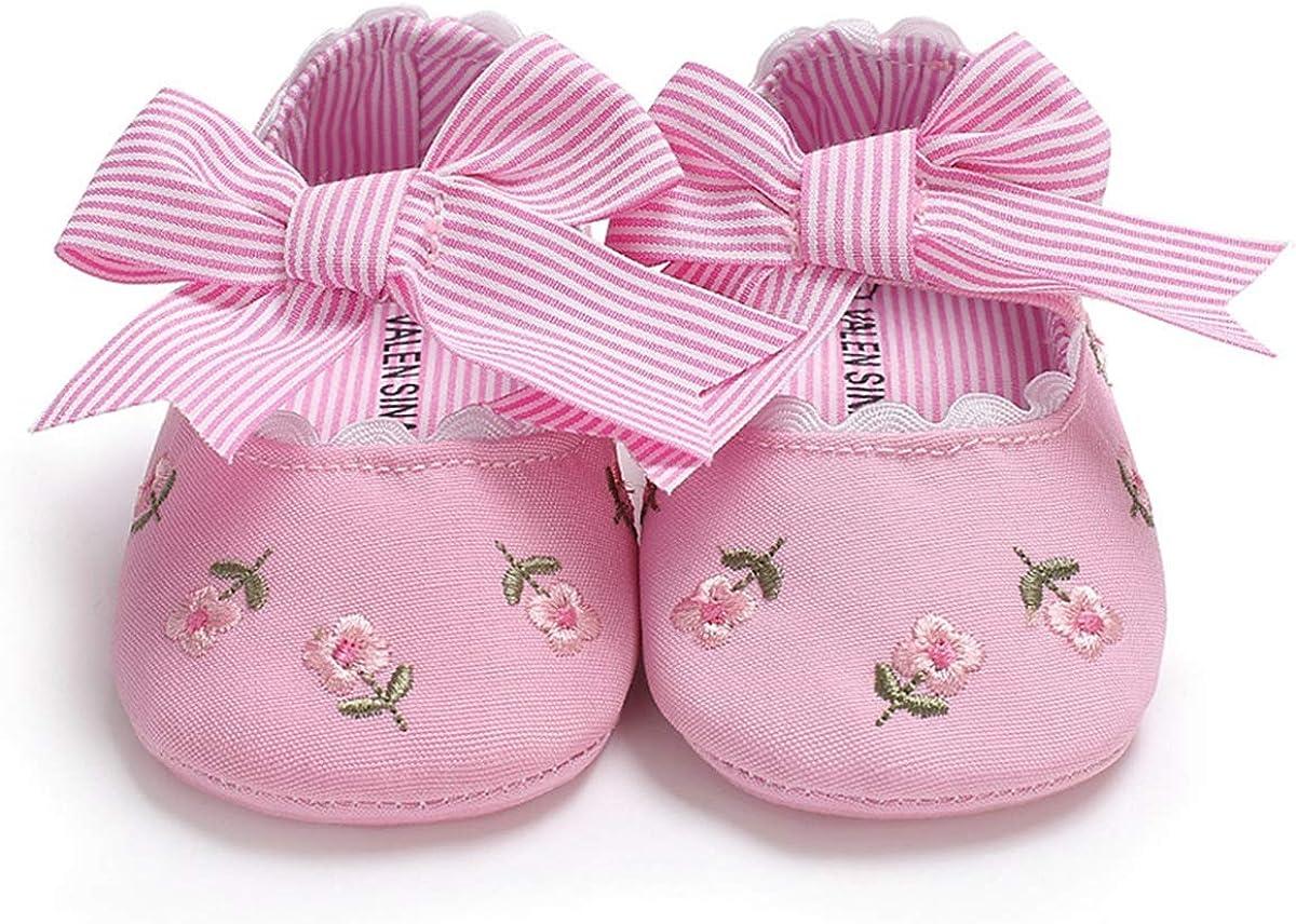 M2cbridge Baby Girls Bow Dress Shoe Infant Toddler Pre-Walker Crib Shoe