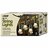 Amazon Price History for:Feit Outdoor Weatherproof String Light Set, Black, 48 ft, 24 Light Sockets, Includes 36 Bulbs