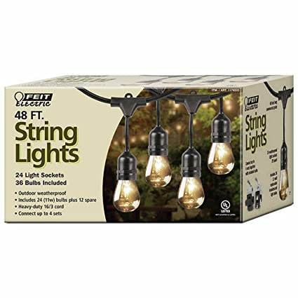 Amazon feit 1179202 string outdoor lights garden outdoor feit 1179202 string outdoor lights aloadofball Image collections