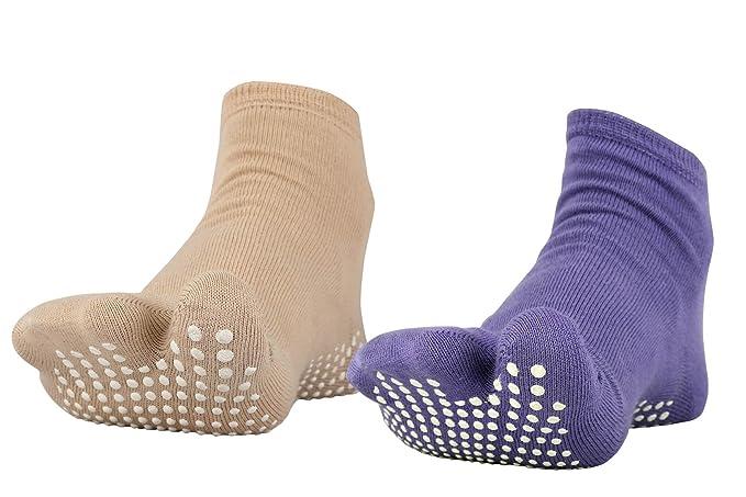 561bc244911 NOFALL Antislip Socks Split Toe (Pack of 2) Combo Color (Dark Skin ...