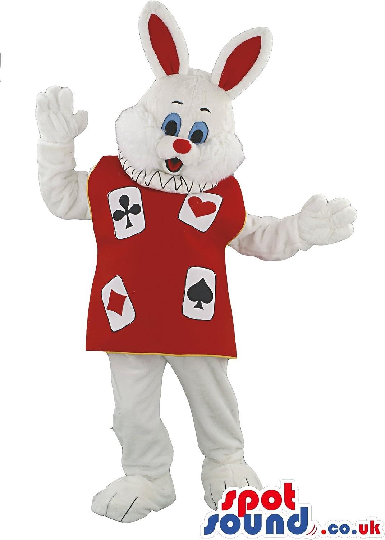 Blanco Conejo Animal mascota SpotSound nosotros disfraz de Alicia ...