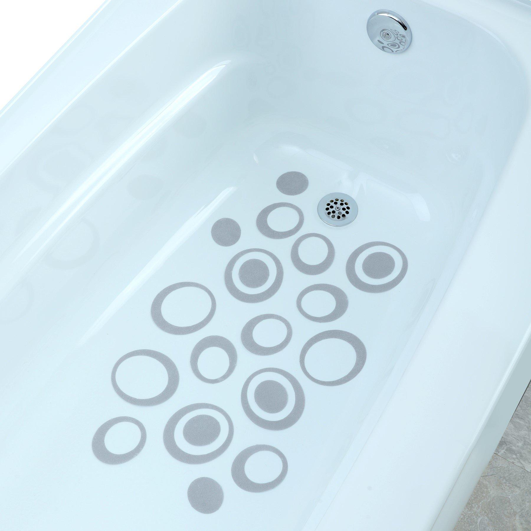 Bathtub Treads Non Slip Applique Feet Grip Stickers Shower Safety ...