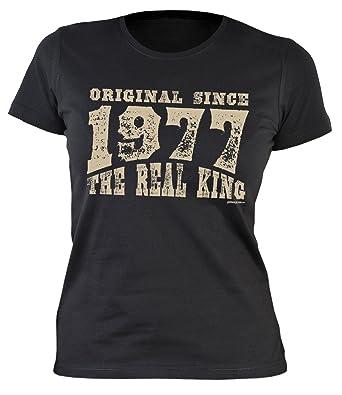 Damen T-Shirt zum Geburtstag: Original since 1977. The real King - Tolle