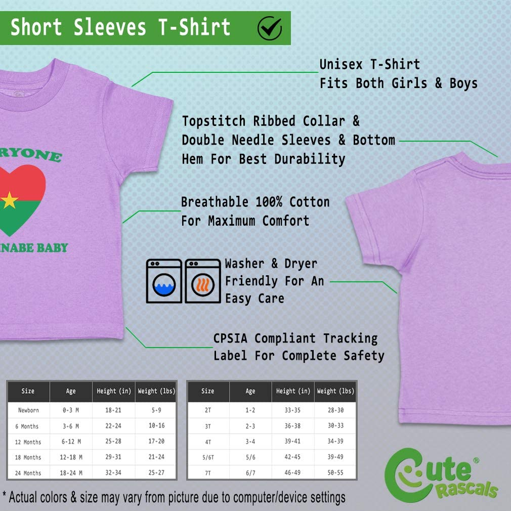 Custom Baby /& Toddler T-Shirt Everyone Loves Burkinabe Cotton Boy Girl Clothes