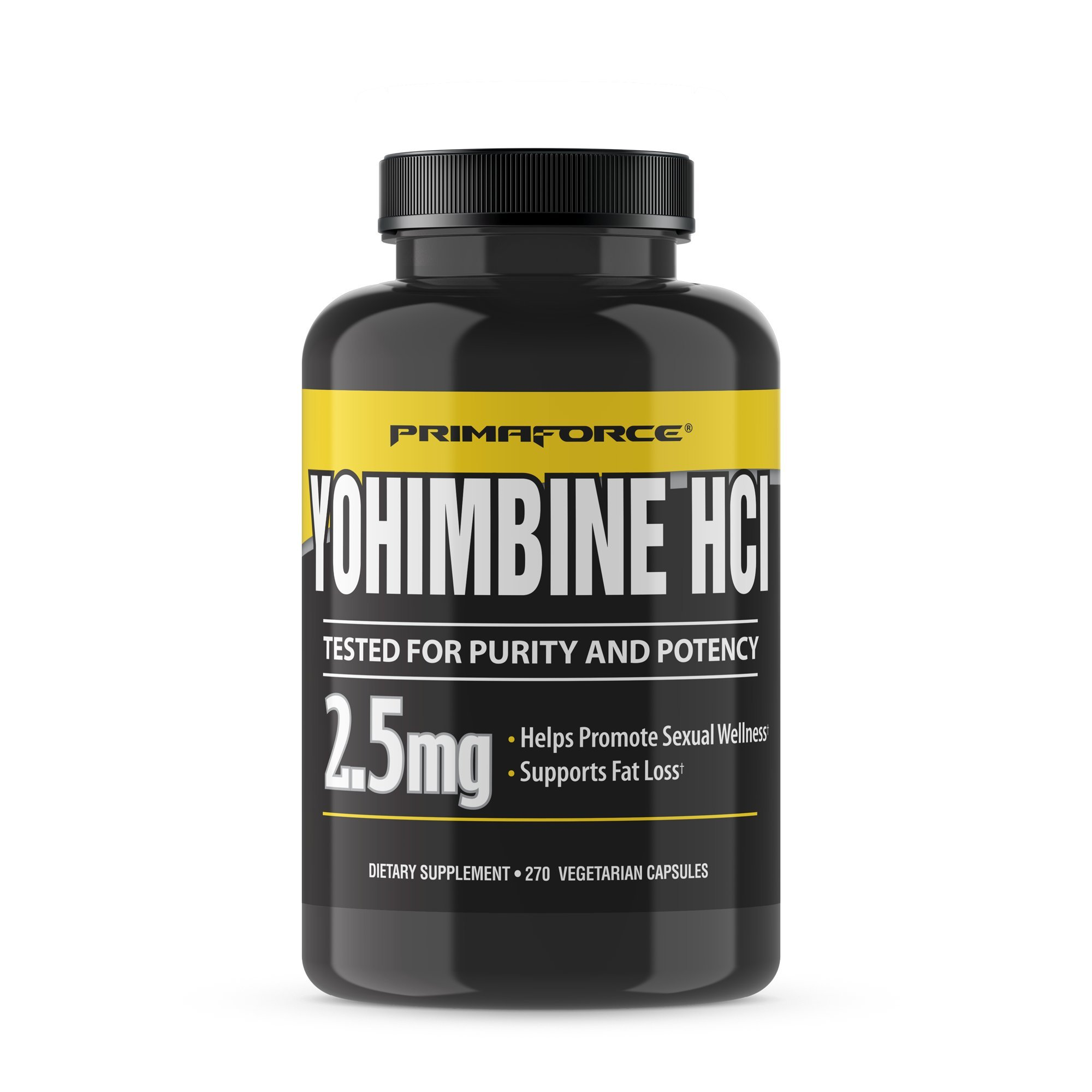 PrimaForce Yohimbine HCl, 270 Count 2.5mg Capsules - Weight Loss Supplement - Supports Fat Loss, Boosts Metabolism by Primaforce