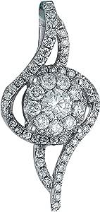 Verona Jewelry Diamond Pendant - 18K White Gold with 0.70ct Diamond