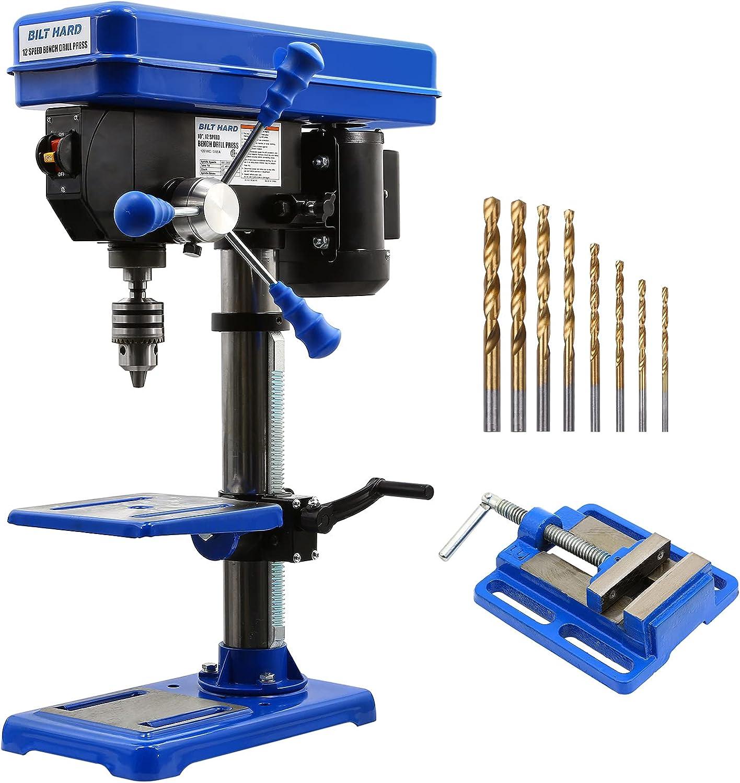 BILT HARD 12-Speed 10-Inch Benchtop Drilling Machine