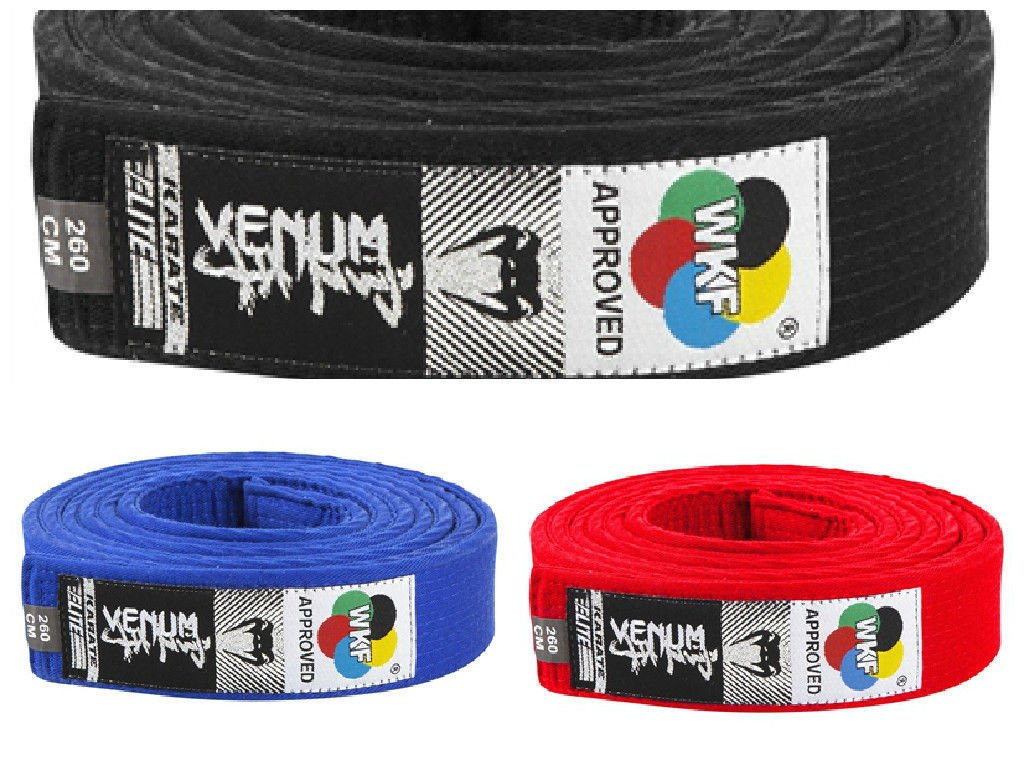 320cm Venum Karate Belt Jiu Jitsu Black Red Blue WKF Approved Cotton 260cm