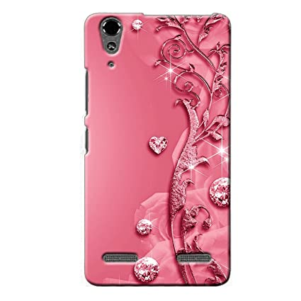 newest 231d4 1adf0 Clapcart Lenovo A 6000 Designer Printed Back Cover for Lenovo A6000 and  Lenovo A6000 Plus -Pink Color (Heart Design for Girls)
