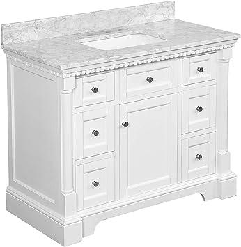 Sydney 42 Inch Bathroom Vanity Carrara White Includes White