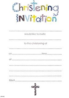 Simon Elvin Baby Boy Christening Invites Pack Of 20 With Envelopes