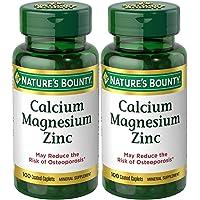 Nature's Bounty Calcium-Magnesiuim-Zinc, 100 Caplets (Pack of 2)