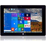 "10"" Fusion5 Ultra Slim Windows Tablet PC- (Full Size USB 3.0, Intel Quad-core, 5MP and 2MP Dual Cameras, HDMI, Bluetooth…"