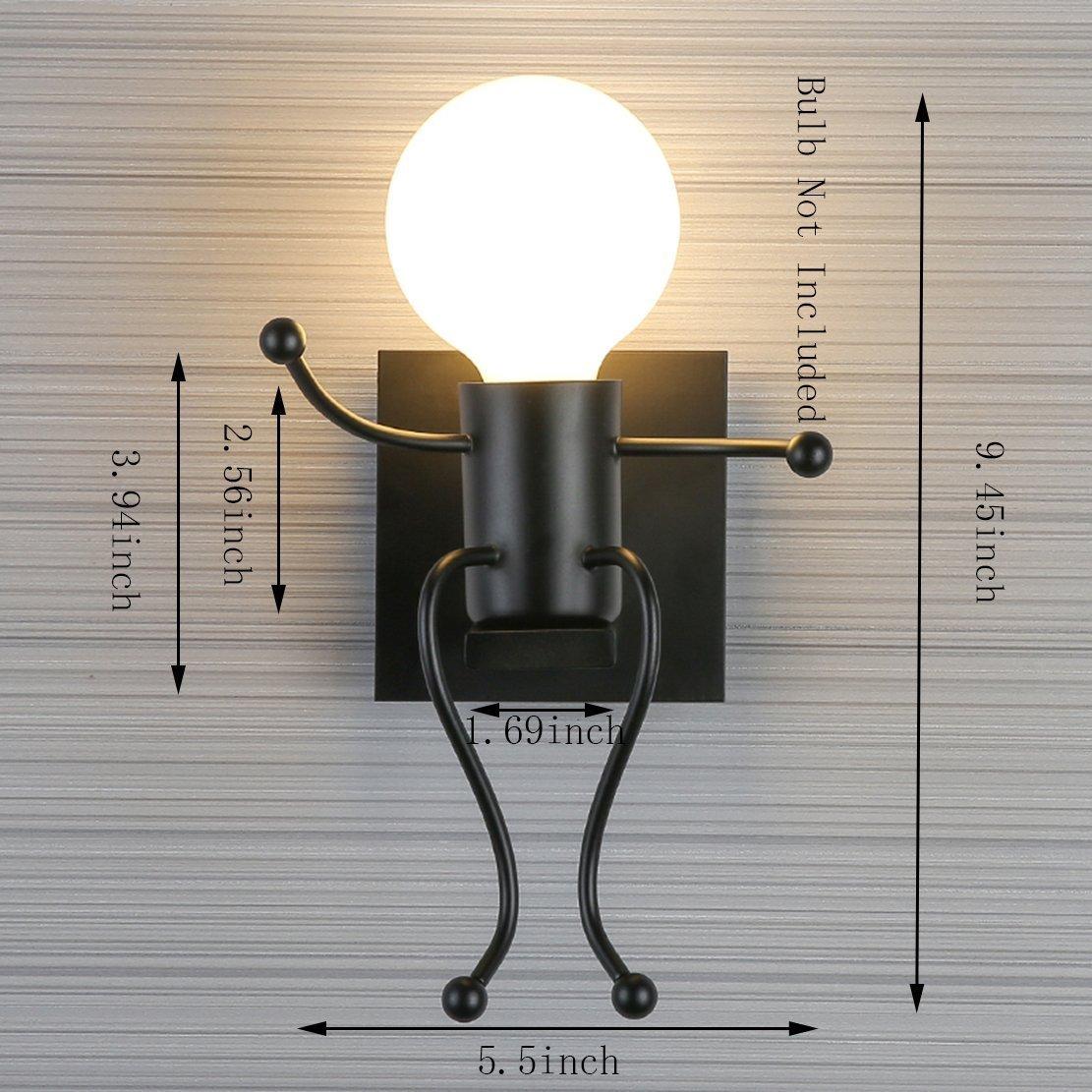 Rétro Individuels Vintage Lampe Créatifs Métal CoucherCuisine Murale Fer Pour Fsth À BarChambre Applique Moderne DI9HE2W