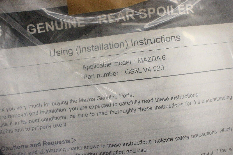 Mazda Genuine Accessories 0000-V4-920 10 Rear Spoiler Wing