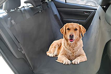 ROTANET Dog Seat Cover for Back Seat of Cars/Trucks/SUV - 100% Waterproof & Hammock Convertible, Black