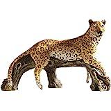 Design Toscano HF307536 Statue de jardin du royaume du léopard Multicolore 26,5 x 52 x 33 cm