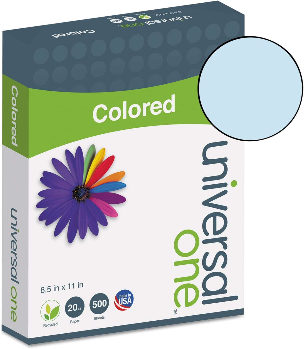 UNIVERSAL Colored Paper 20lb 8-1//2 x 11 Goldenrod 500 Sheets//Ream 11205