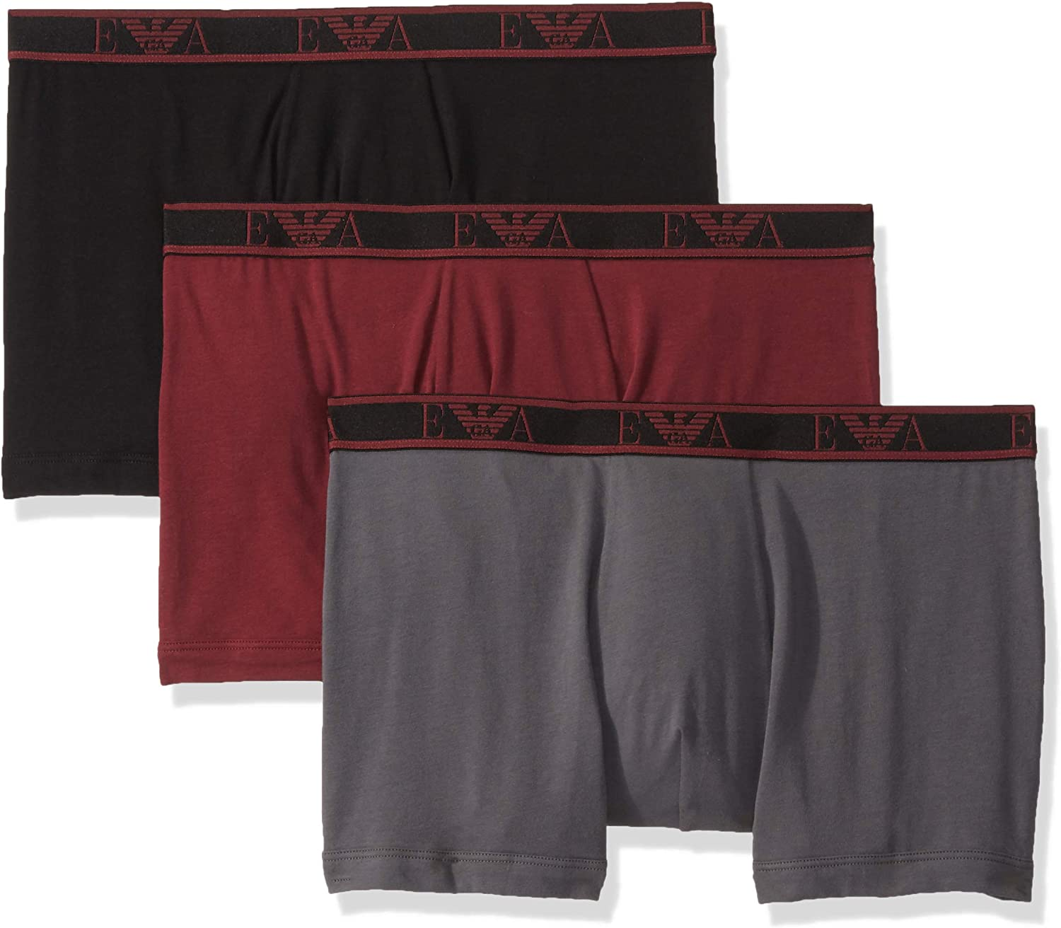Emporio Armani Men's Monogram 3-Pack Boxer Brief