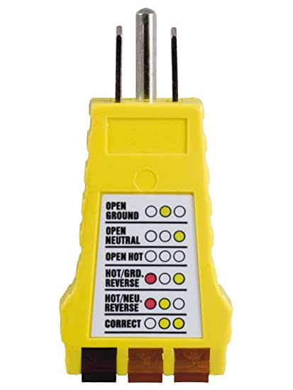 power gear 3 wire receptacle tester outlet tester 6 visual