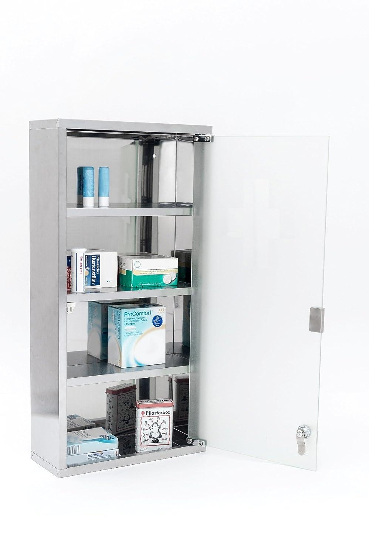 Intercube Armoire /à Pharmacie en Acier Inoxydable 75/x/30/cm Taille/XXXL