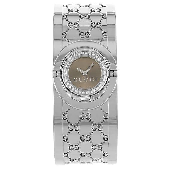 Gucci - Reloj de pulsera hombre, acero inoxidable, color gris