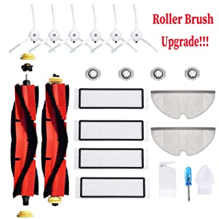 JoyBros 18-Pack Replacement Parts Compatible for Xiaomi Roborock S6 S60 S65 S5 S50 S55 E25 E35 Filter Mop Brush Accessories Vacuum Cleaner Replenishment Kit