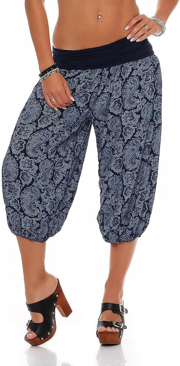 Pantalon sarouel pour danser Malito 8581 Pantacourt pour femme avec imprim/é oriental Pantalon de loisirs