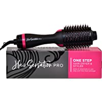 Hair Dryer Brush - Hot Air Brush with ION Generator, and Ceramic Coating for Fast Drying, Hair Dryer and Styler for Salon Diffuser Results, Perfect One Step Hair Dryer and Volumizer for All Hair Types