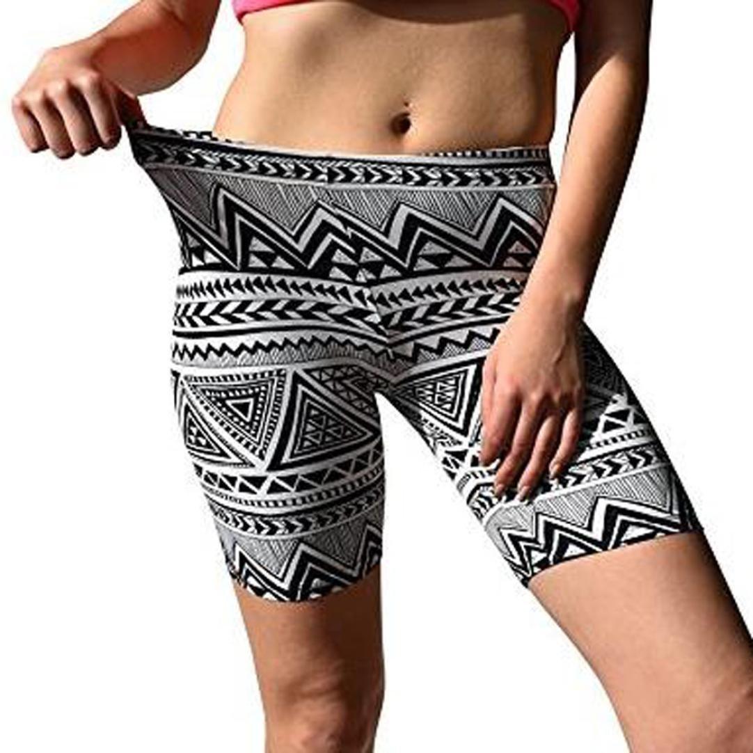 ❤ Pantalones Cortos Yoga, Estampados para Mujer Pantalones Cortos Suaves activados para pinchazos Bike Absolute: Amazon.es: Deportes y aire libre