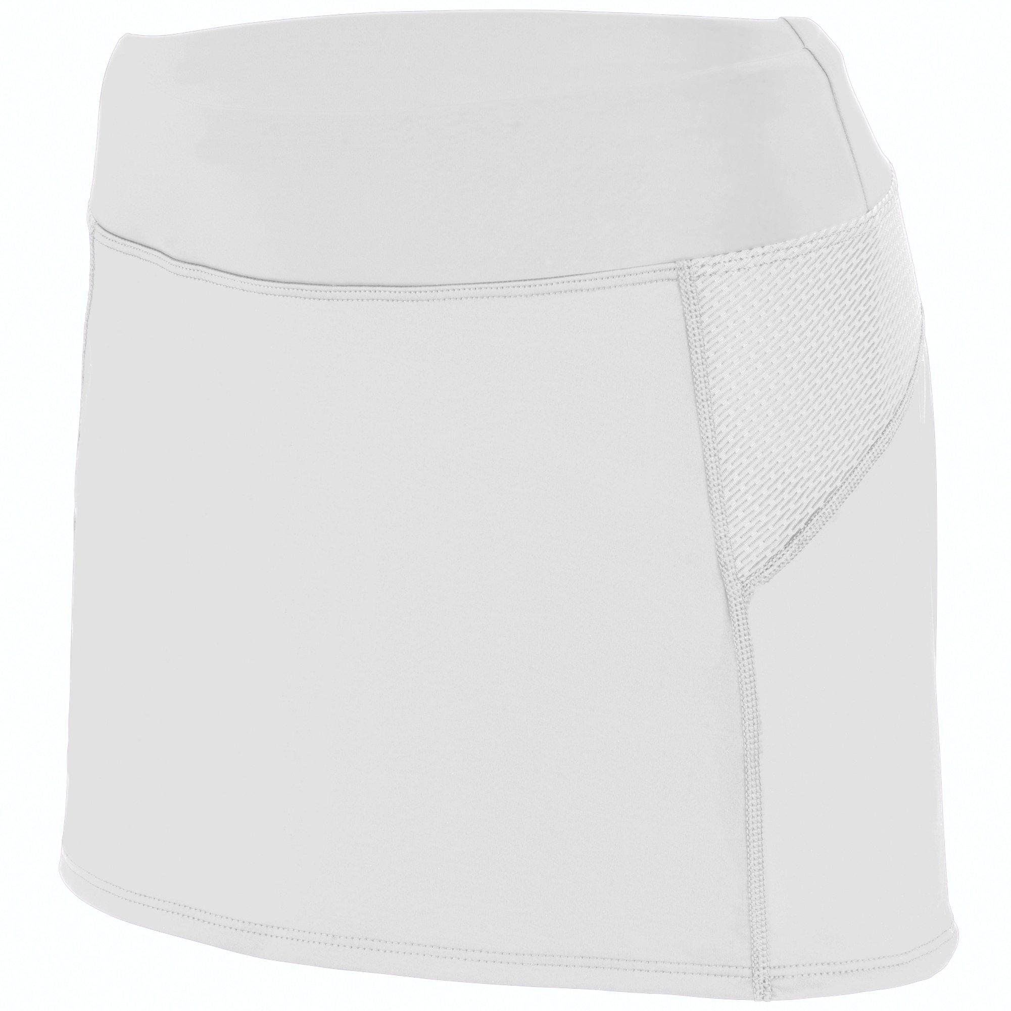 Augusta Sportswear Girls Femfit Skort S White/Graphite by Augusta Sportswear