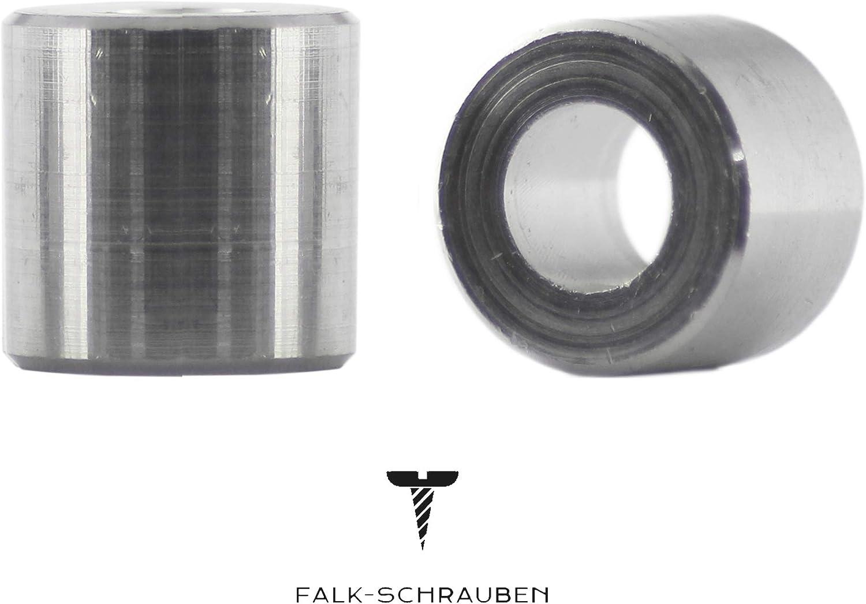 Distanzbuchse 50 St/ück Distanzh/ülse 10x6,5x6 aus Aluminium Distanzring Made in Germany Falk-Schrauben Rohrbuchse |Abstandhalter