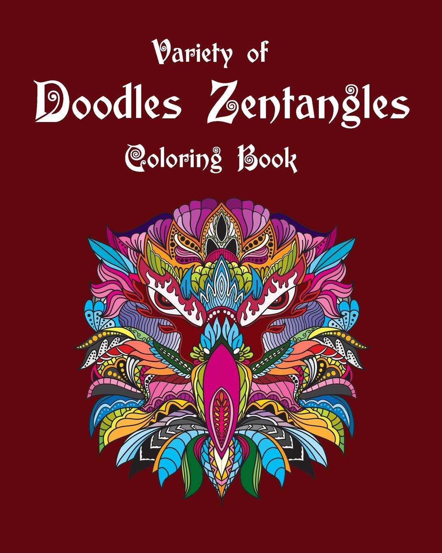 Variety Of Doodles Zentangles Coloring Book Mandalas Doodles