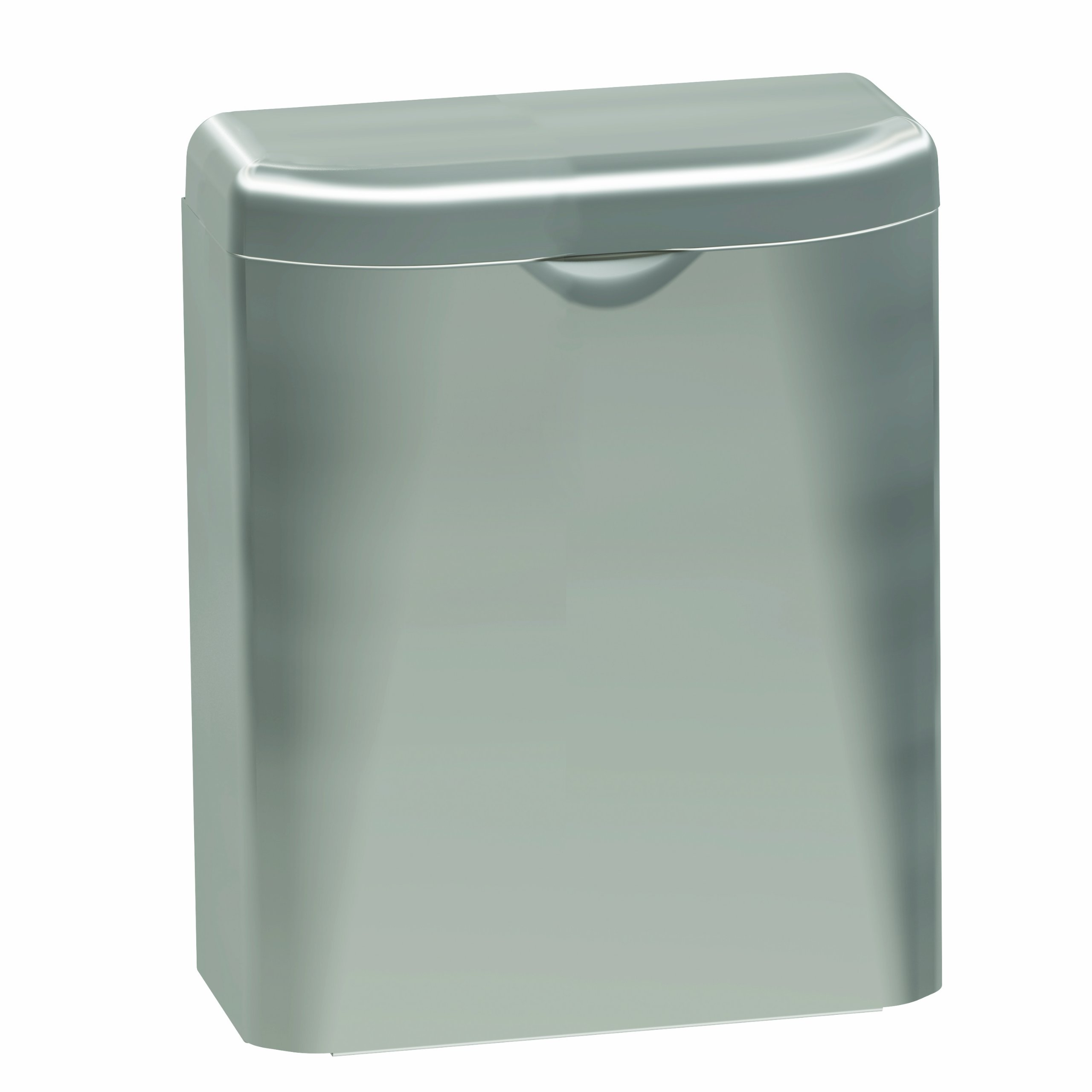 Bradley 4A10-110000 Diplomat Stainless Steel Surface Mounted Napkin Disposal, 8'' Width x 10-1/16'' Height x 3-7/8'' Depth