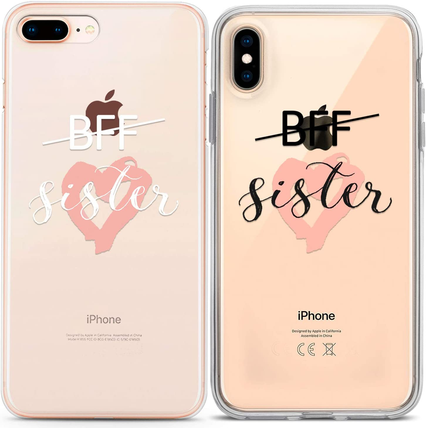 Lex Altern Couple Cases Compatible with iPhone 12 Pro Max 11 Mini SE Xr Xs 8 Plus 7 6 Heart Simple Sister Love Quote BFFs Cute Anniversary Protective BFF Slim Girlfriend Matching TPU Relationship