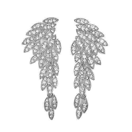 76cf01d7e06cf6 LARGE Angel Wings Eagle Wings Rhinestone Retro Statement Earrings Souvenir  Gold Black Dangling Earrings Wedding Bridal Prom Chandelier Long Drop  Earrings ...