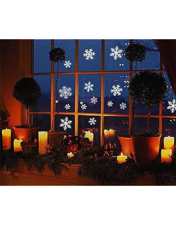 Paopi 108 Pcs Pegatina Copo de Nieve de la Navidad para Ventana Decoraciones Navidad Decoración No