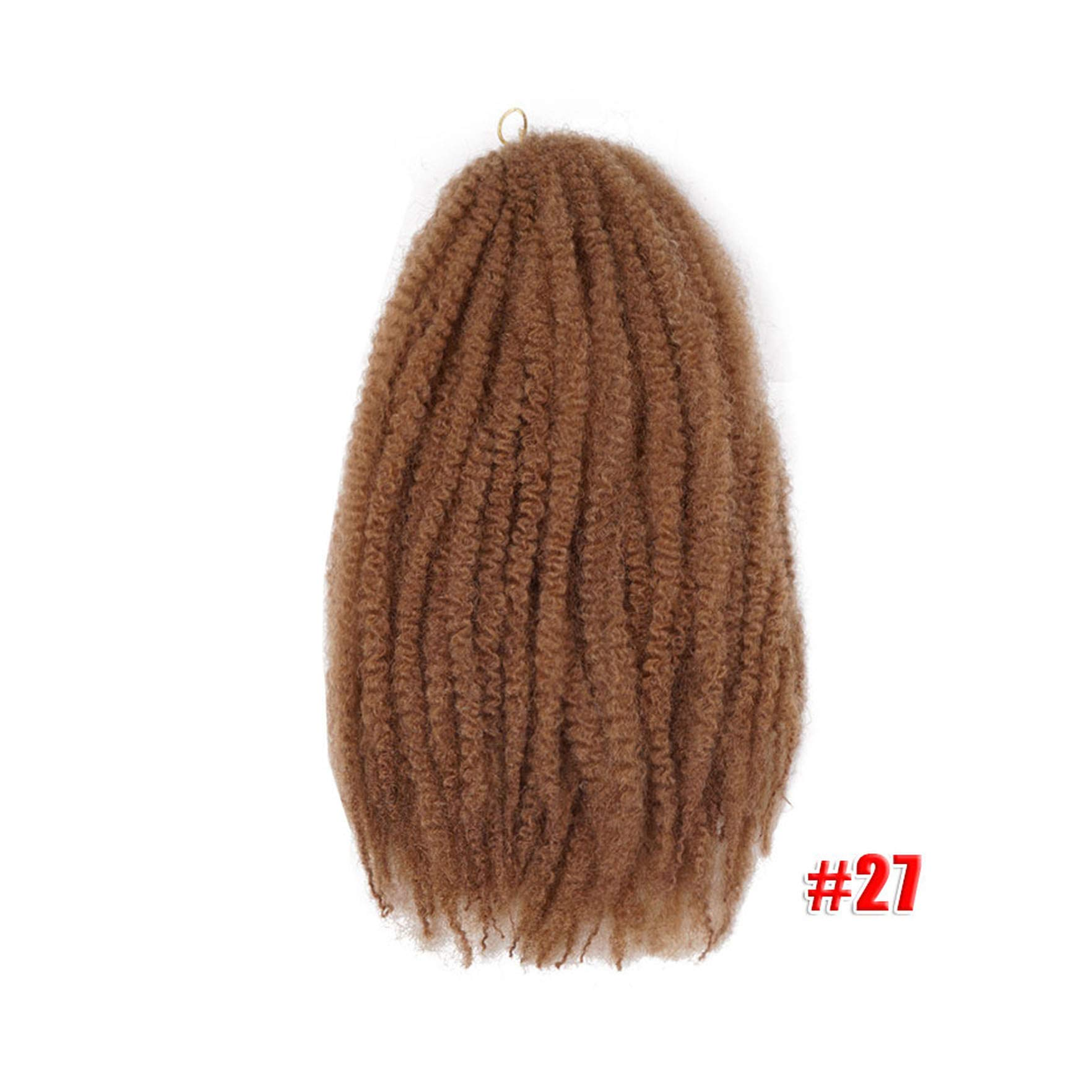 Marley Braids Hair Crochet Ombre Afro Synthetic Braiding Hair Crochet Braids Hair Extensions Bulk,#27,18Inches,9 Packs by LQ21