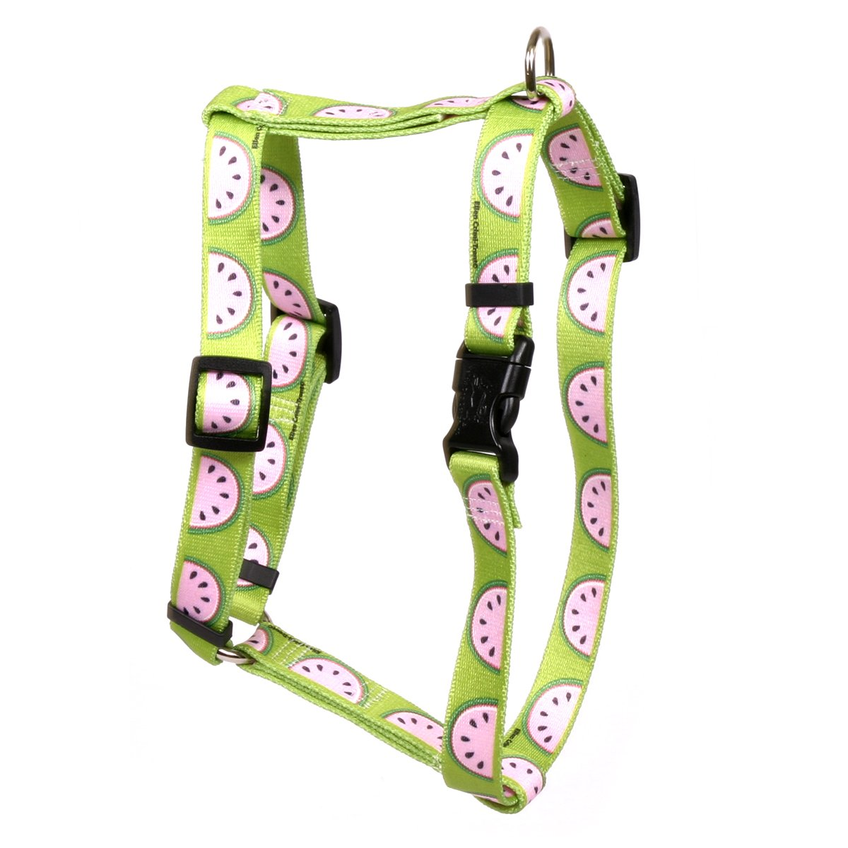 Yellow Dog Design Wonderful Watermelons Roman Style Dog Harness-X-Small-3/8 and fits Chest 8 to 14''