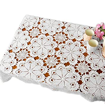 tidetex hecho a mano Crochet Doilies – Juego de diseño de flores de encaje funda para