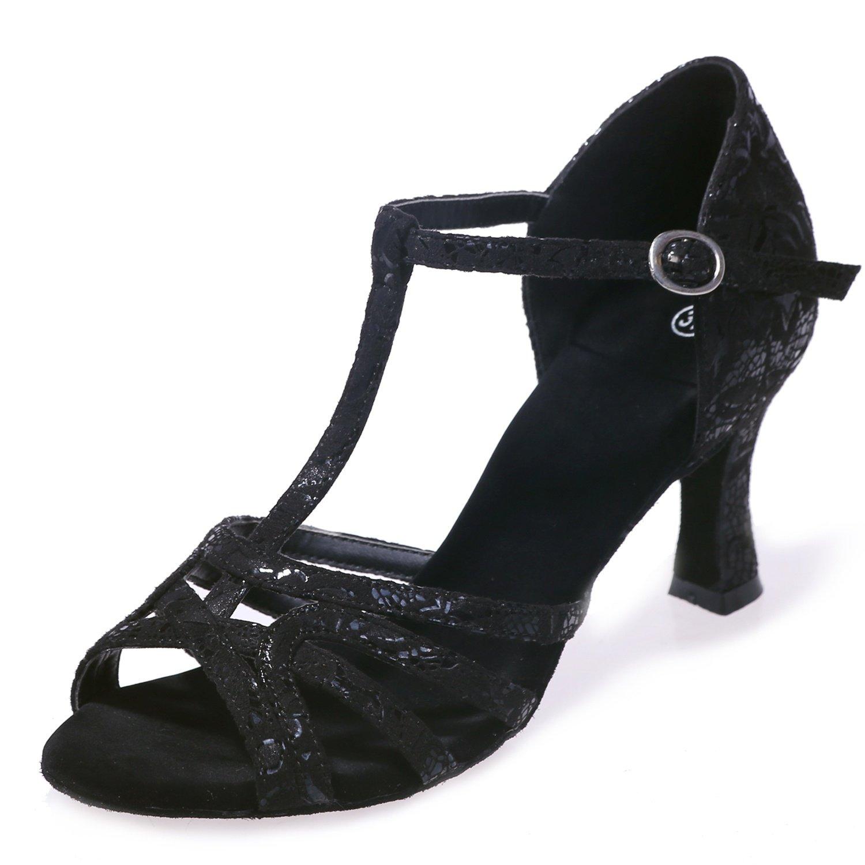 5d5e138c6 Elobaby Women Dance Shoes Ballroom Satin Latin Spring Flowers Autumn  Platform Party Buckle High Heel/7.5cm Heel: Amazon.co.uk: Shoes & Bags