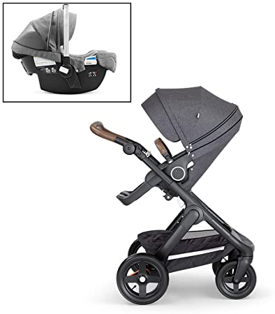 Amazon Com Stokke Black Melange Trailz Stroller And Black Melange