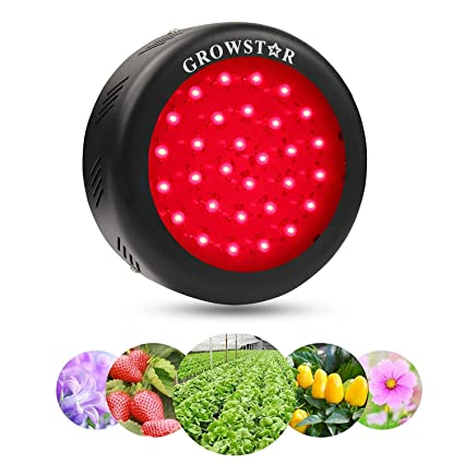 Growstar UFO 150W All Deep Red LED Grow Light,660nm Full Red Spectrum for  Indoor & Greenhouse Hydroponics Plants Bloom Booster Flowering and
