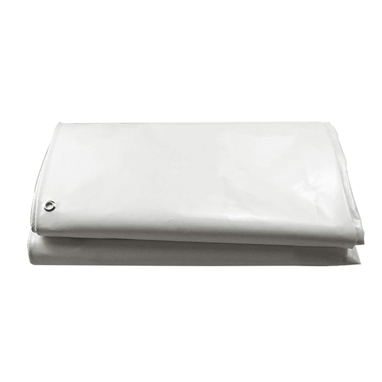 DONGYUER Outdoor Tent Thicken Rainproof Tarpaulin Canvas Sunscreen PVC Knife kratzt Weiß Tarpaulin Plastic Tarpaulin,5  5m