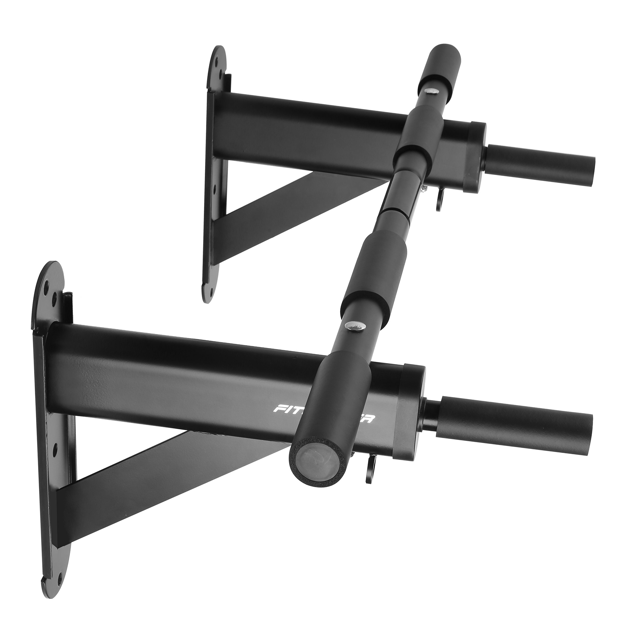 Fitleader FC3 Wall Mounted to 24'' on-center Stud Upper Body Heavy Duty Pull Up Chin Up Bar Black